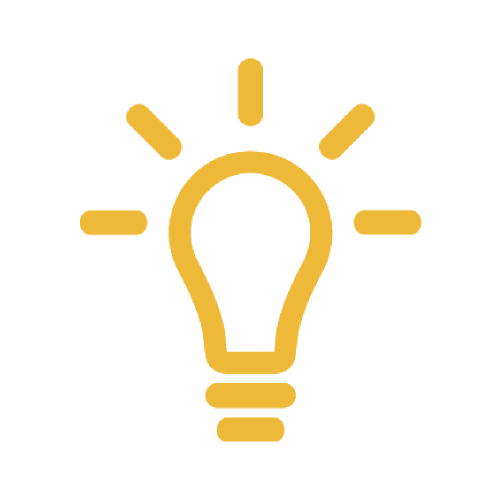 Yellow Light Bulb Icon