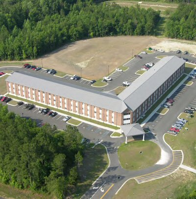 Aerial view of FPSI dormitory building
