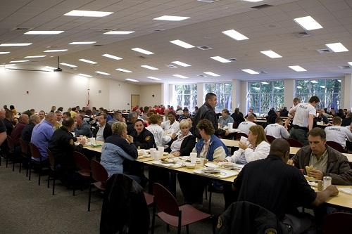 The dining hall at FPSI during lunch