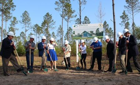 A photo of the groundbreaking on 4-15-13