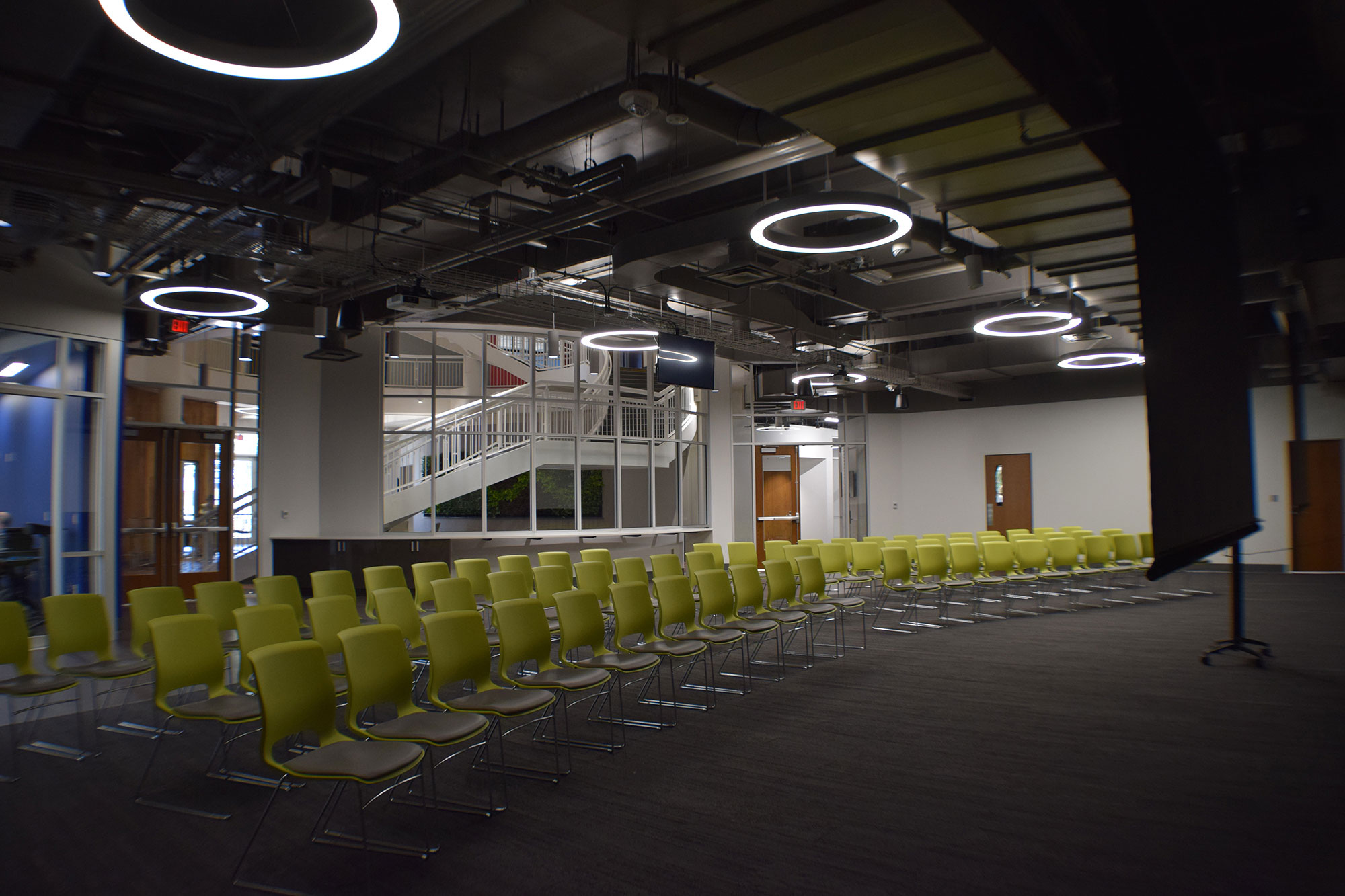 Event space at the TCC Center for Innovation plaza level