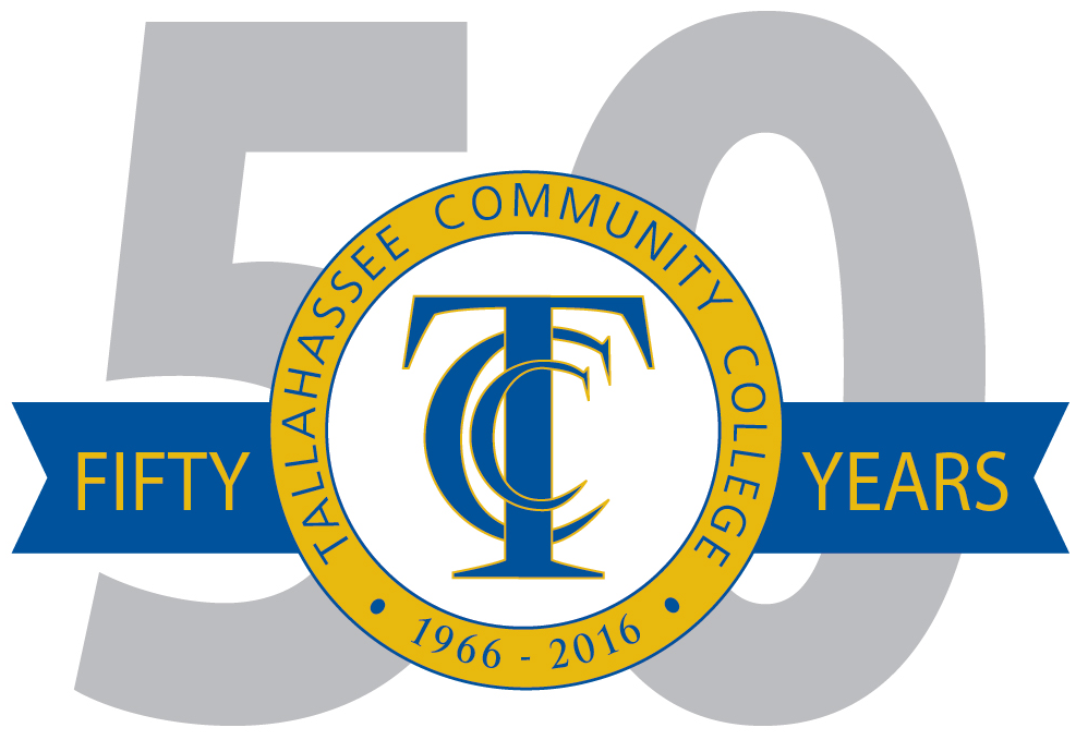 Official logo of Tallahassee Community College's 50th Anniversary